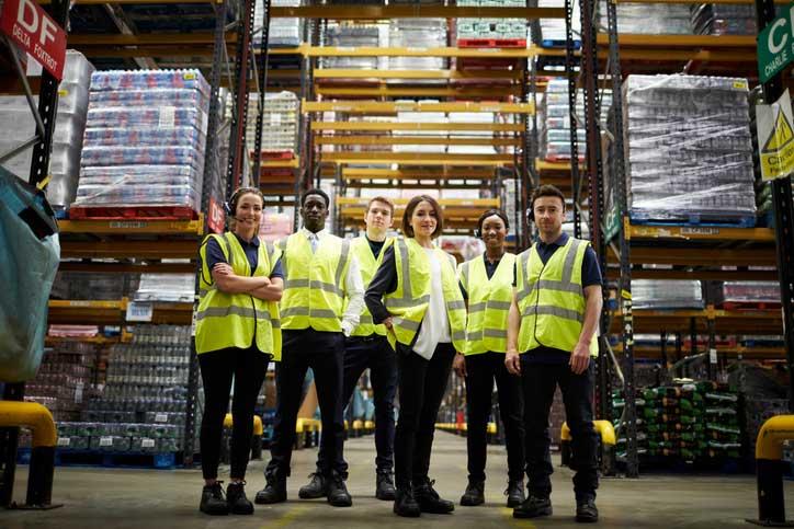 équipe employés logistique
